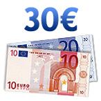 Chèque de 30 euros