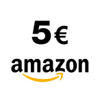 Recevez un code d'une valeur de 5 EUR valable sur Amazon FR. Profitez de ce chèque cadeau pour vous faire plaisir parmi des millions de produits neufs et d'occasion : - livres - CD - vidéos - DVD - logiciels - CD-Rom - jeux vidéo - produits d'électronique - jeux et jouets - montres et bijoux - soins du corps - puériculture - chaussures - accessoires - etc. Pour plus d'information sur l'utilisation du code vous pouvez aller ici: www.amazon.fr/utiliser-un-cheque-cadeau