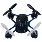 Descriptif produit: drone, quadrocopt�re nano radio command�. 4,5cm de diam�tre, le plus petit du march�. seulement 1 cm d'�paisseur. il volde en 4 voies, radiocommande 2,4ghz d'une port�e de 50m. charge via la radio commande ou un c�ble usb fournis